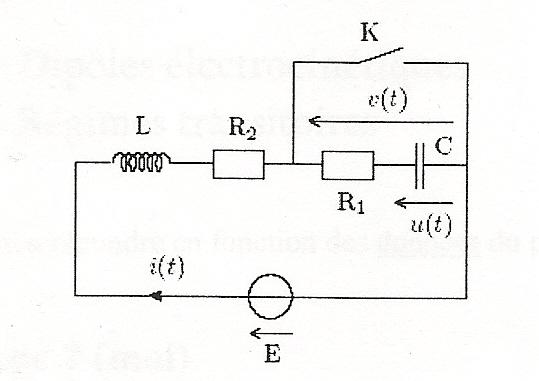 circuit oscillant  rlc   exercice de physique