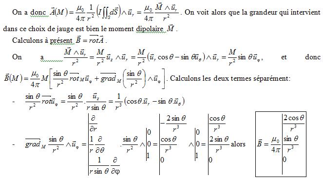 Champ magnétique formule