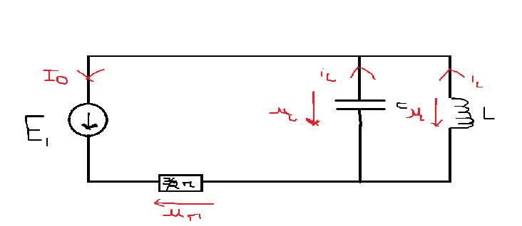 equa diff en q circuit rlc parall u00e8le  exercice de physique