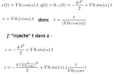 equation horaire du mouvement