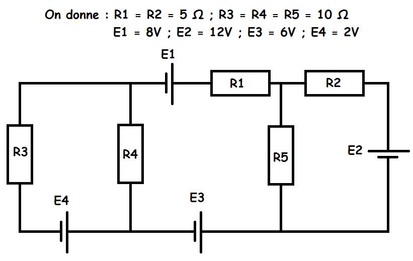 exercice d u0026 39  u00e9lectricit u00e9 circuit en r u00e9gime continu